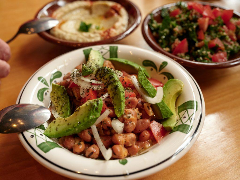 beans and hummus
